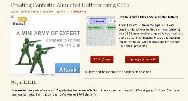 Fantastic Animated Buttons
