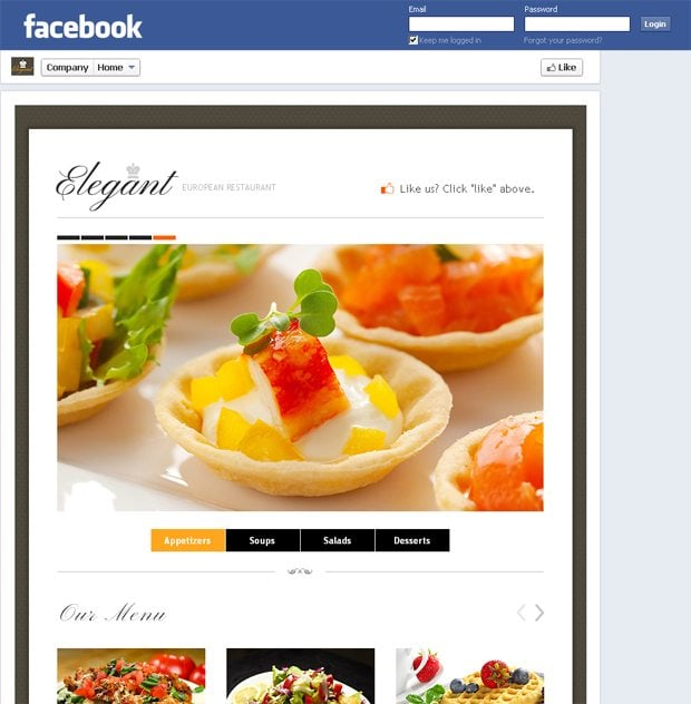 Restaurant-Facebook-HTML-Template One Page Technical Newsletter Template on