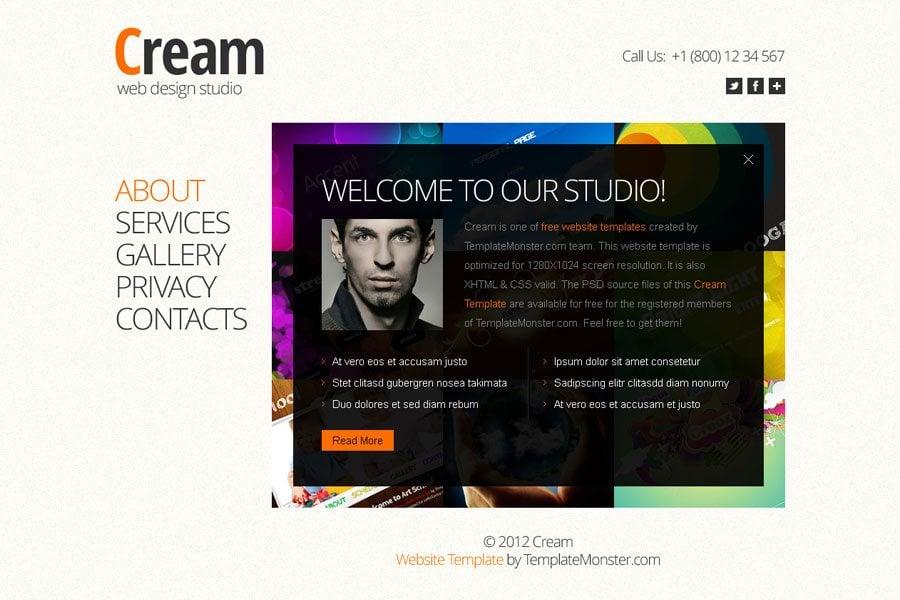Free Full JavaScript Animated Template for Web Design Studio ...
