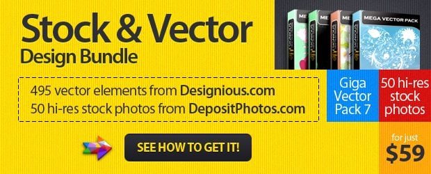 stock and vector design bundle