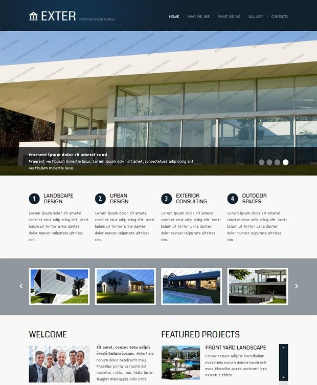 The huge pro step in website developing monsterpost for Exterior design website templates