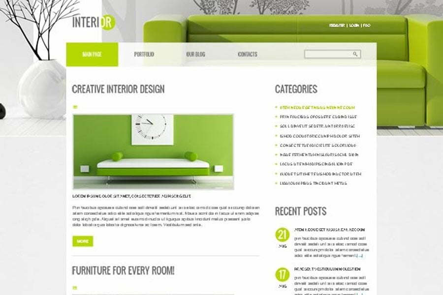Perfect Decor For Interior Site Free Joomla Theme