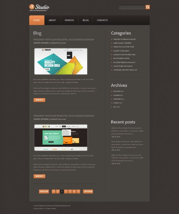 all new joomla theme on the house be ready to get it