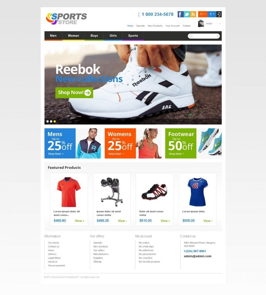 Templatemonster39s neophytes responsive prestashop themes for Presta shop templates