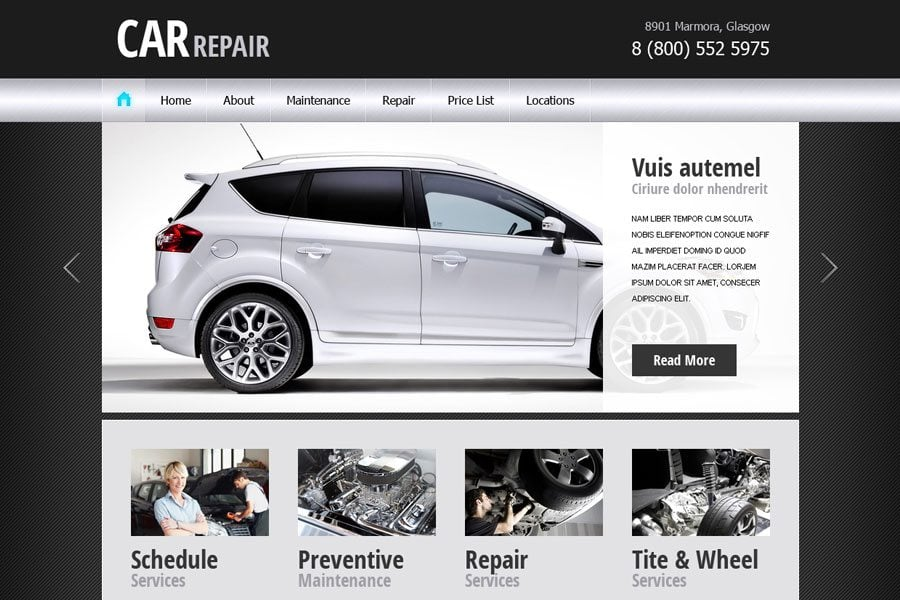 Hot This Week Free Website Template For Car Business