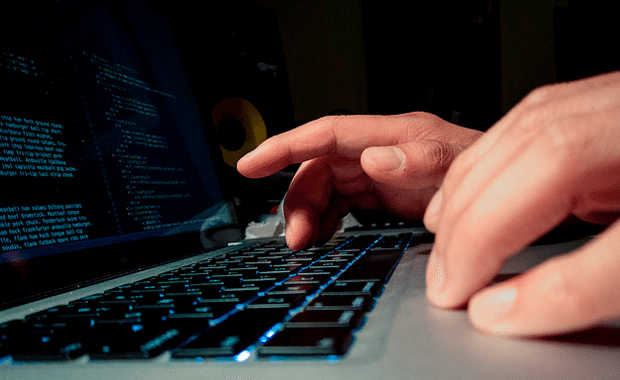 MacBook Pro laptop coding typing html css webdev
