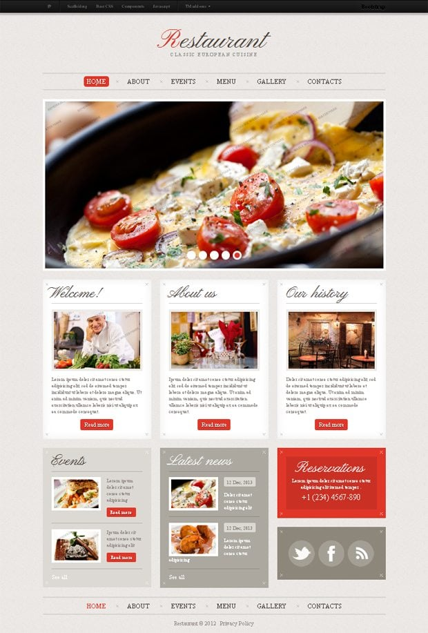 A selective digest of bootstrap themes at templatemonster monsterpost cafe and restaurant bootstrap website template maxwellsz