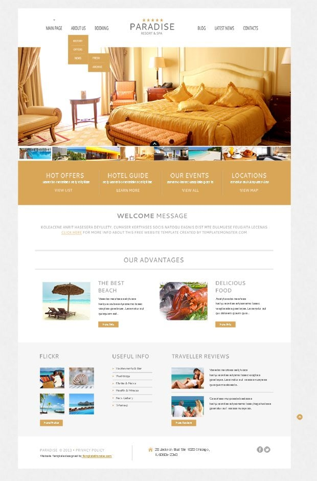Free WordPress Theme for Hotel - a Warm Welcome to Your Clients ...
