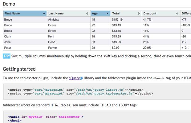 Using Jquery To Enhance Html5 Tabular Data Monsterpost