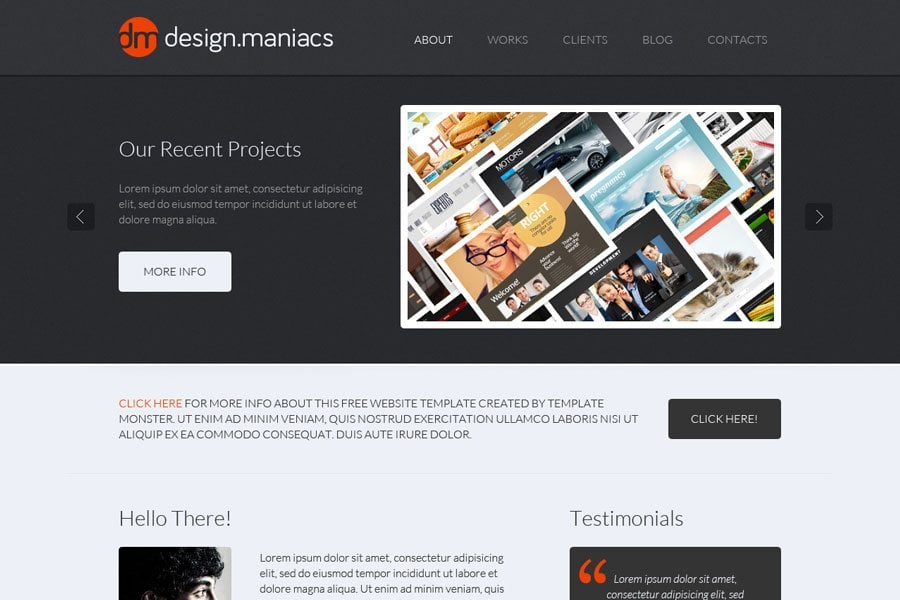 Free Website Template For Design Studio Easy Way To Share Your Creativity With The World