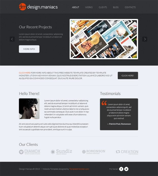 Free Website Template for Design Studio - Easy Way to Share Your ...
