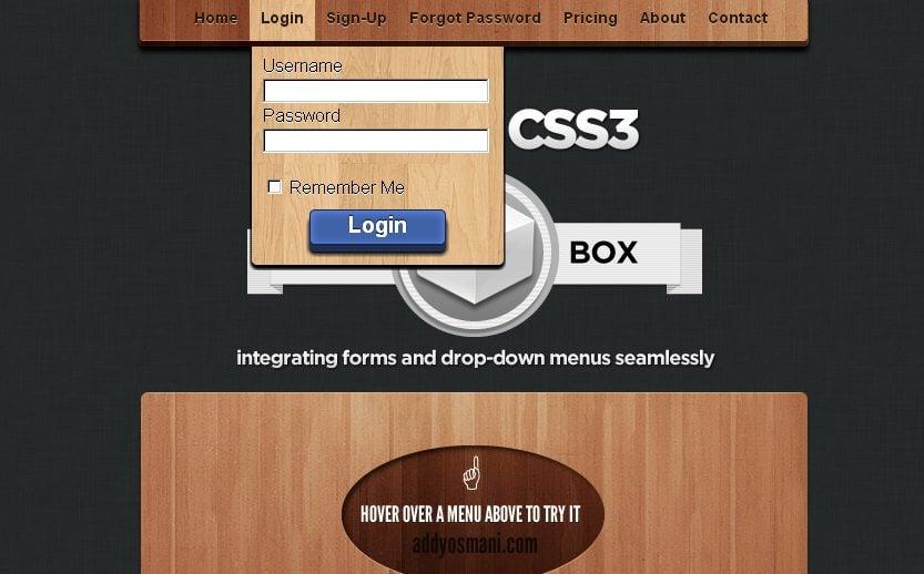 how to create a dhtml drop down menu