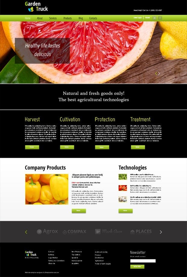 free blogger templates with slider - free html5 agro theme with jquery fade slider monsterpost