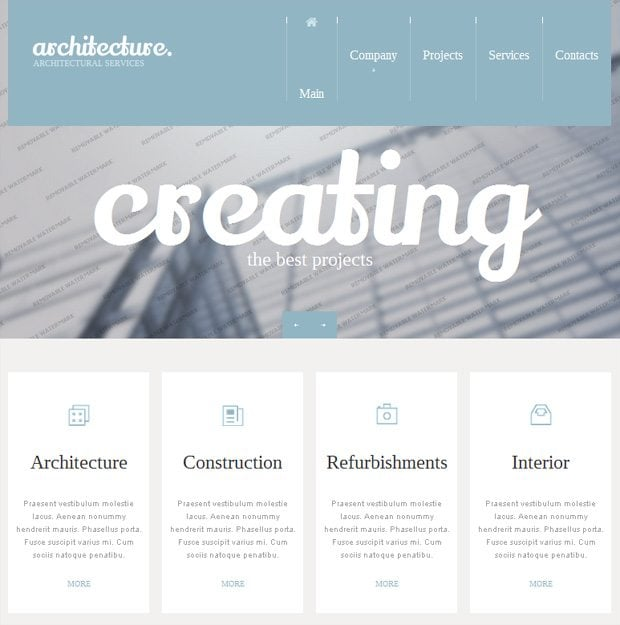 website outline template