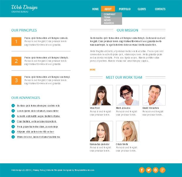 Design Studio Free HTML5 Theme