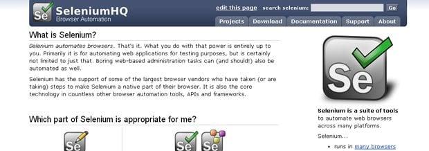 web development testing tools