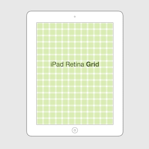 Photoshop grid templates designing through the line for Ipad grid template