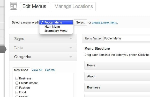 select-menu-wp-admin-screenshot