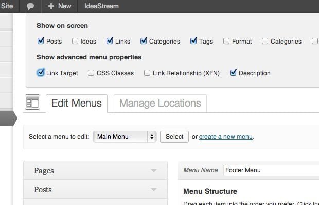 wordpress-menus-screen-options