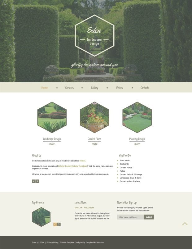 Modern vintage twist in free html5 theme for exterior for Exterior home design websites
