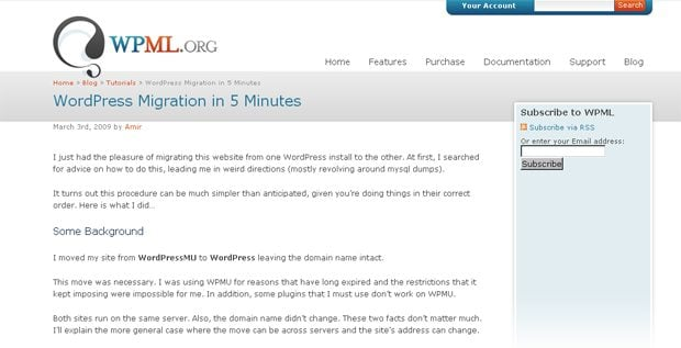 wordpress migration tutorials