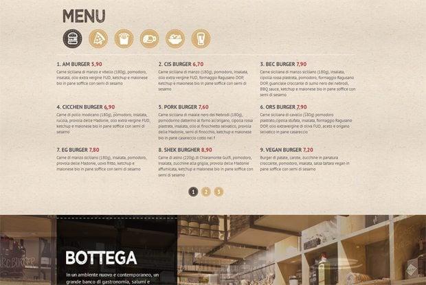 best menu practices on food drink sites bonus useful menu