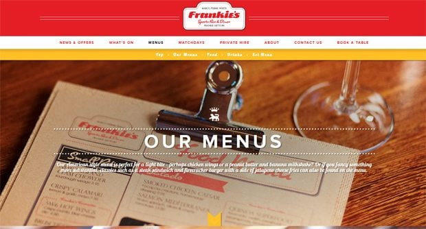 food and drink menu designs inspiration