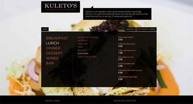 food and drink menu designs inspiration