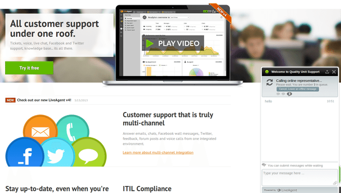Live Chat & Complete Helpdesk by LiveAgent