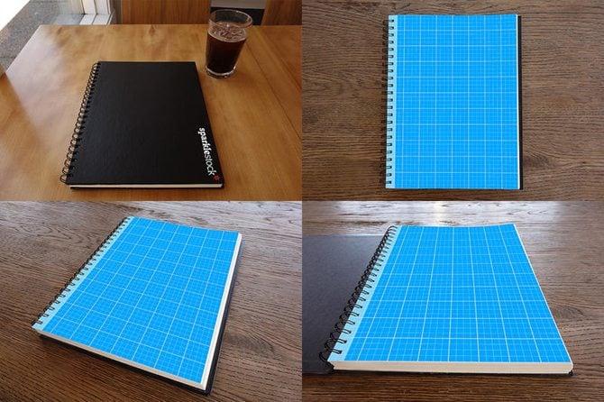 Photorealistic Sketchbook Mockups PSDs