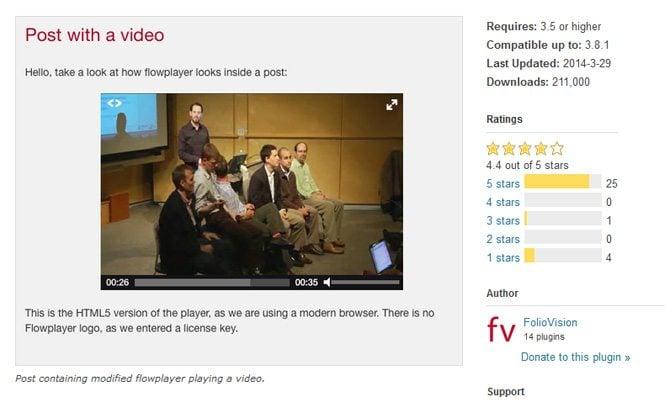 FV WordPress Flowplayer