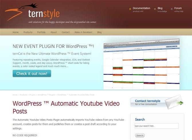 WordPress Automatic Youtube Video Posts