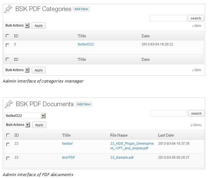 Pdf Manager Wordpress