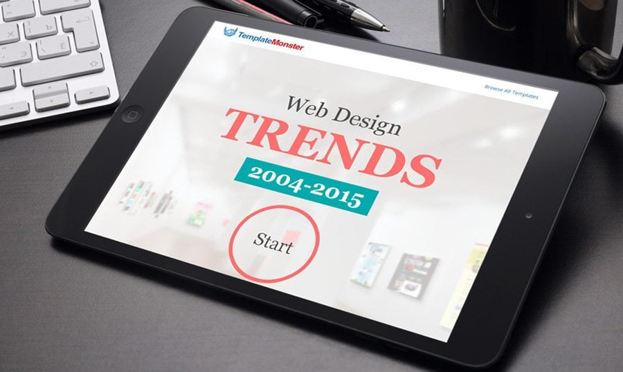 Web Design Trends Infographic – On The Time Machine Through the...