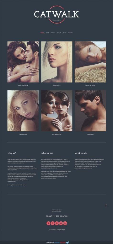 Free WordPress Theme for Fashion Agency