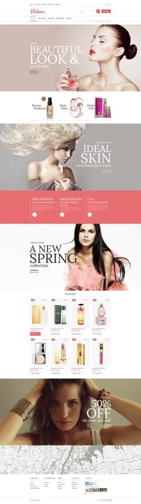 Free OpenCart Cosmetics Store Theme
