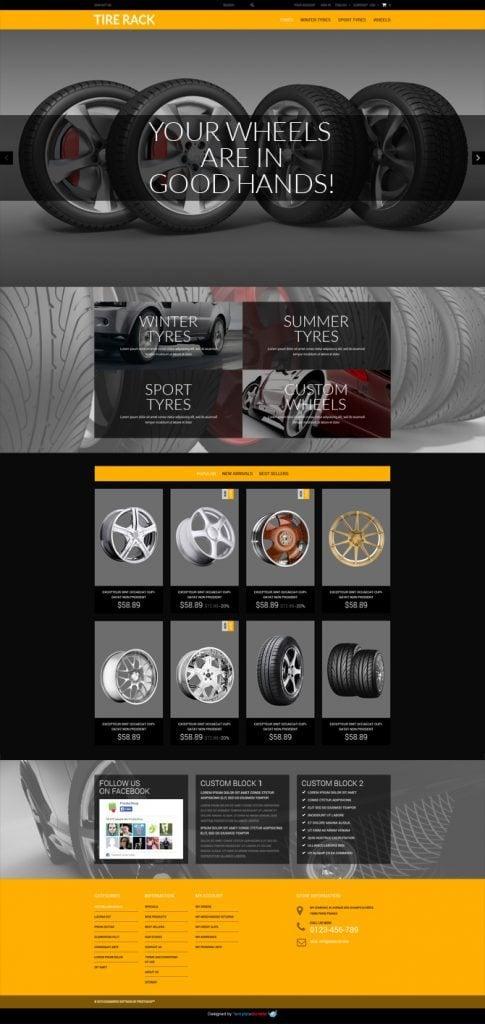 Wheels & Tires Free PrestaShop Theme