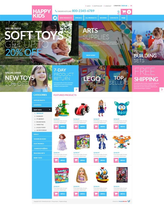 Toy Store Free ZenCart Template