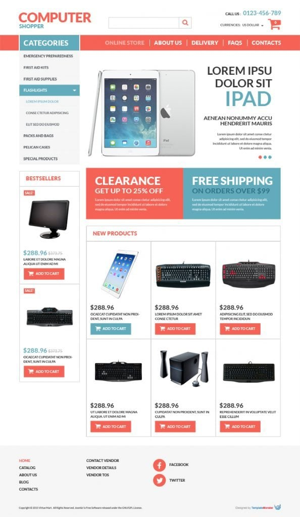 VirtueMart Computer Store Free Template
