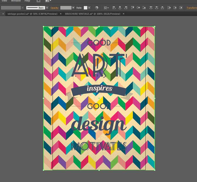 retro poster tutorial for illustrator