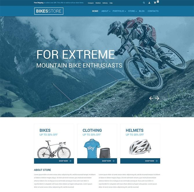 Bikes Store WooCommerce Theme