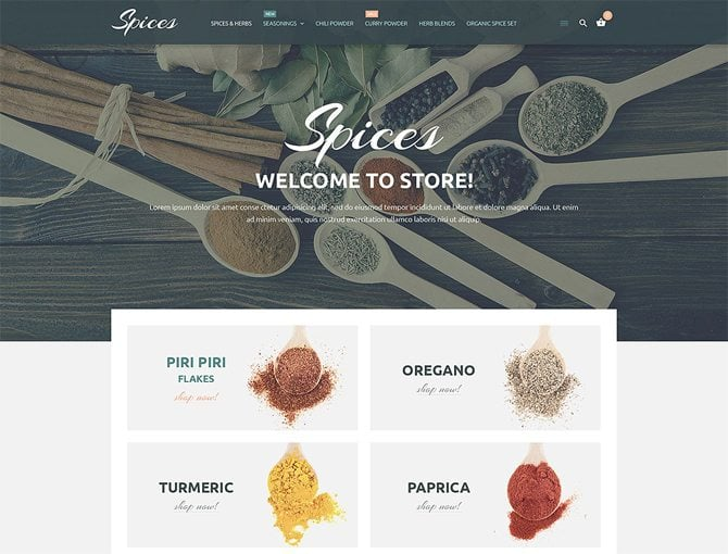 Culinary Spices Magento Theme