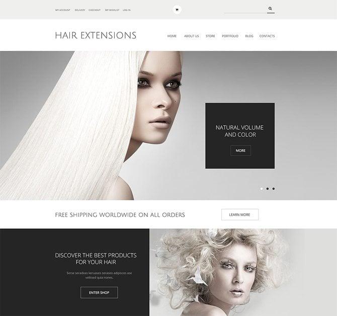 Hair Extensions Salon WooCommerce Theme