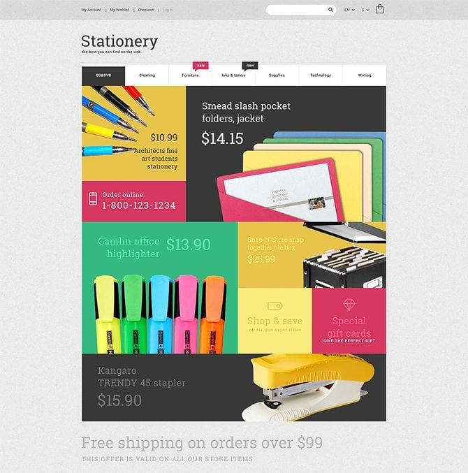 Stationery Store Magento Theme