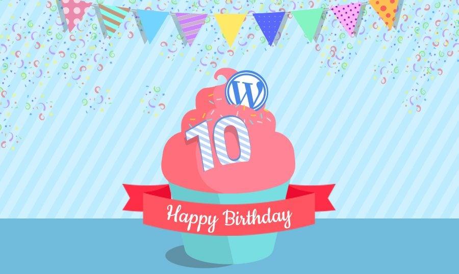 Resultado de imagen de wordpress 10 years