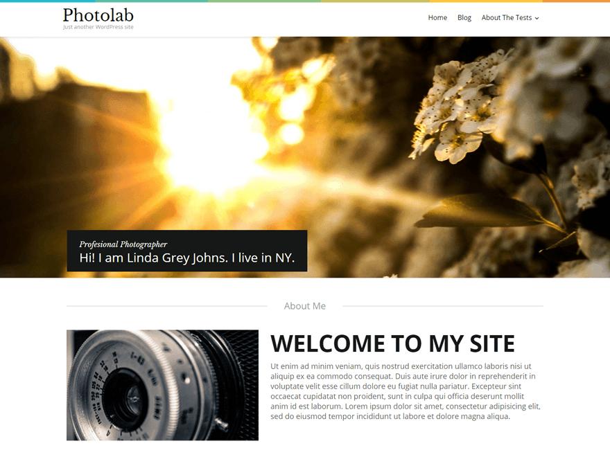 Photolab Free WordPress Theme