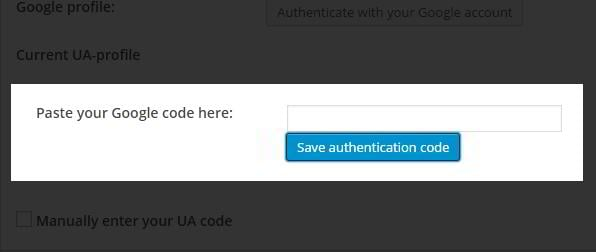how to find google analytics authentication code