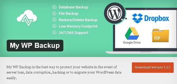 best free wordpress backup plugin
