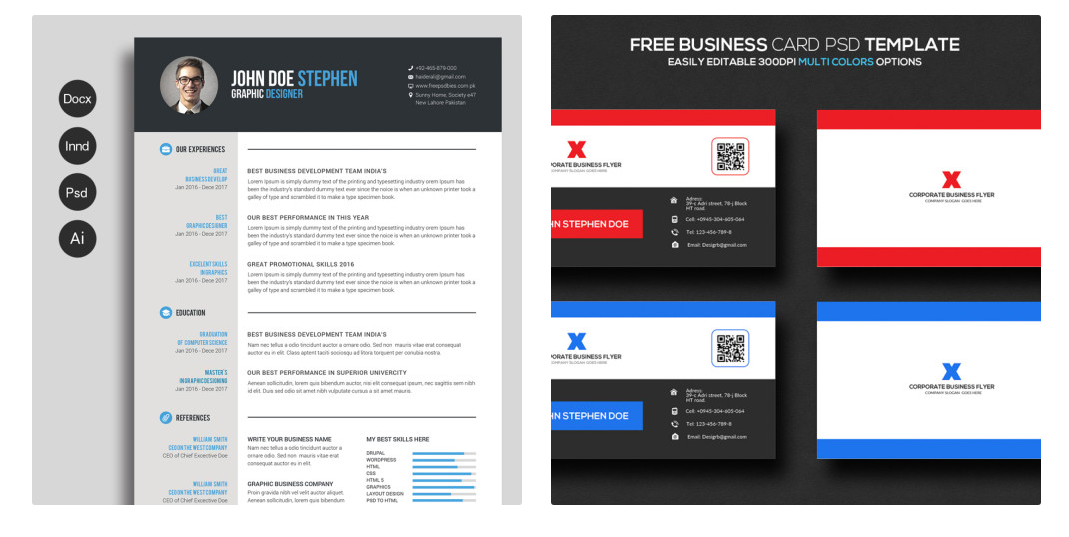 40 best 2018s creative resumecv templates printable doc check out a fully scalable and perfectly aligned template for your cv it features a clean layouts with multiple color options and free fonts you can edit yelopaper Gallery