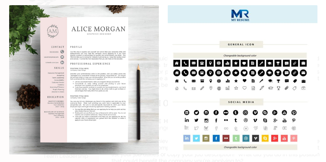 here is a two page resume template that you can edit in ms word its text rich well organized layout will help you reveal all your strong points to - Resume Template Color